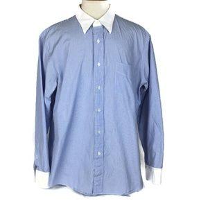 J. Crew Banker Dress Shirt Size XL 17-17.5 Blue